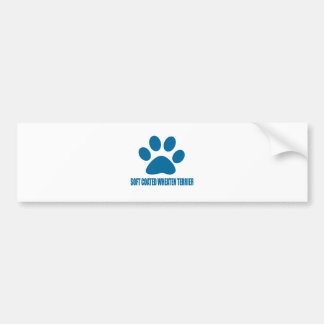 SOFT COATED WHEATEN TERRIER DOG DESIGNS BUMPER STICKER