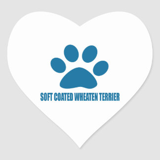 SOFT COATED WHEATEN TERRIER DOG DESIGNS HEART STICKER