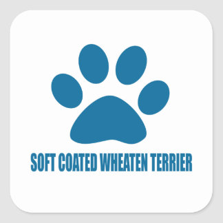 SOFT COATED WHEATEN TERRIER DOG DESIGNS SQUARE STICKER
