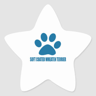 SOFT COATED WHEATEN TERRIER DOG DESIGNS STAR STICKER