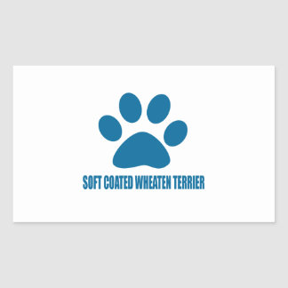SOFT COATED WHEATEN TERRIER DOG DESIGNS STICKER