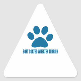 SOFT COATED WHEATEN TERRIER DOG DESIGNS TRIANGLE STICKER