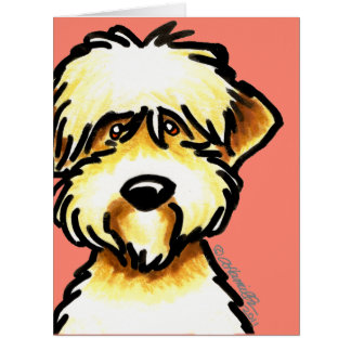 Soft Coated Wheaten Terrier Face Personalized Card