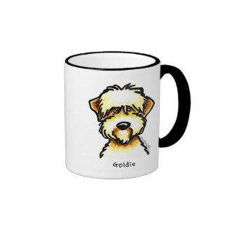 Soft Coated Wheaten Terrier Face Personalized Ringer Coffee Mug