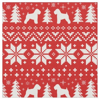 Soft Coated Wheaten Terriers Christmas Pattern Fabric