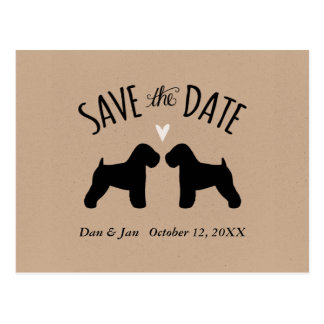 Soft Coated Wheaten Terriers Wedding Save the Date Postcard