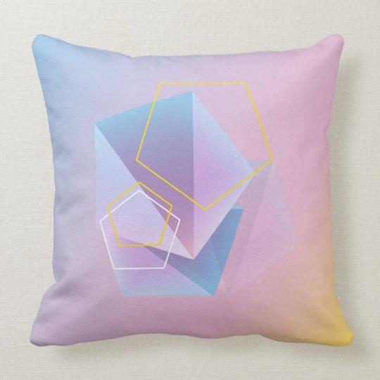 Soft Colours Modern Geometric Design Throw Pillow