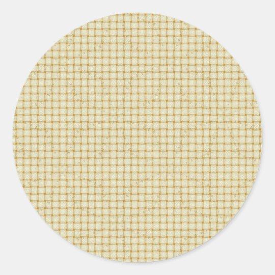 Soft Cream Basket Weave Design Stickers