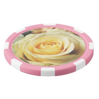Soft Cream Rose Poker Chips