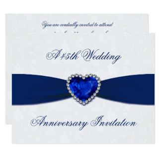 Soft Damask 45th Wedding Anniversary Invite