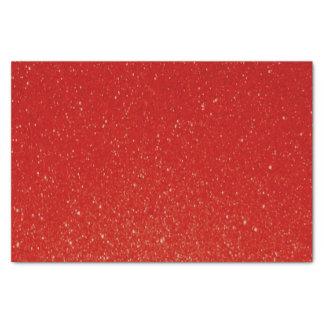 Soft Dark Red Glitter Print Tissue Paper