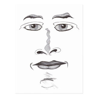 Soft Face Postcard