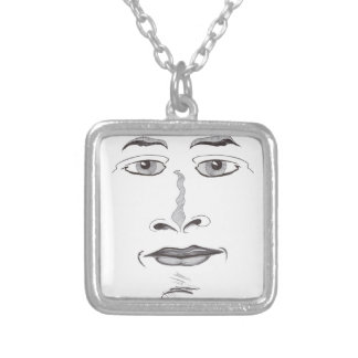 Soft Face Silver Plated Necklace