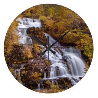 Soft Falls Large Clock