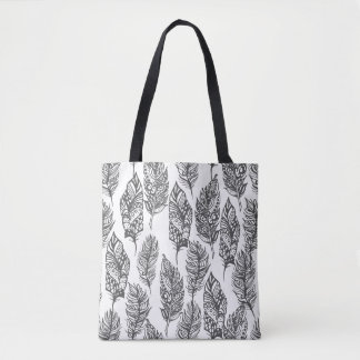 Soft Feathers Doodle 2 Tote Bag
