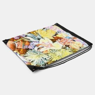 Soft Floral 1117 Drawstring Bag