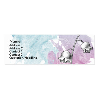 Soft Floral Card Pack Of Skinny Business Cards
