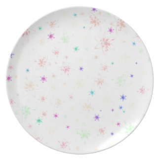 Soft Floral Flowers Party Plate
