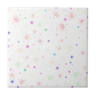Soft Floral Flowers Tile