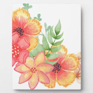 Soft Floral Plaque