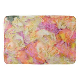 soft floral,roses (I) Bathroom Mat