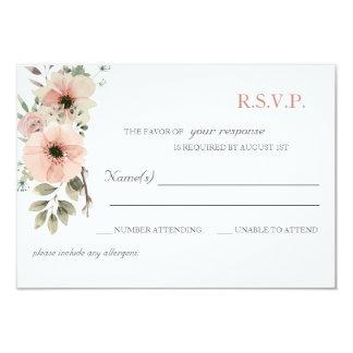 Soft Floral RSVP Card