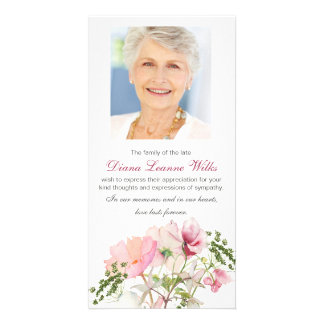 Soft Florals Funeral Sympathy Thank You Card