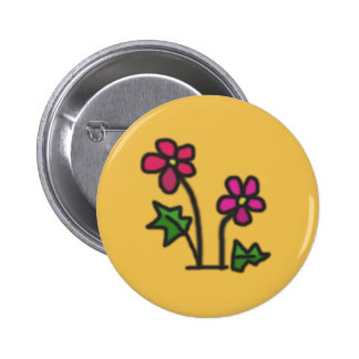 Soft flower 2 inch round button