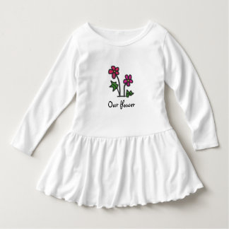 Soft Flower Pink with any Text Dress