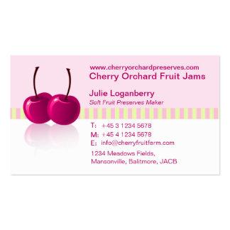 Soft fruit jam / preserve company business card