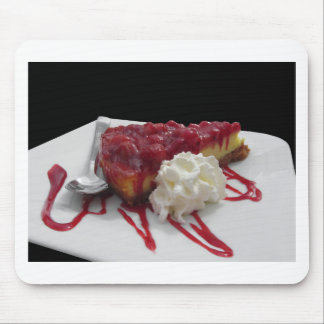 Soft fruits cheesecake with fresh berries mouse pad