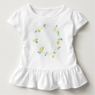 Soft Garland of Flowers Design Toddler T-shirt