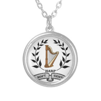 soft gentle harp sound silver plated necklace