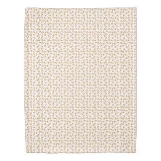 Soft Gold Gradient Princess Crown Pattern Duvet Cover