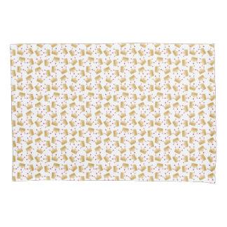 Soft Gold Gradient Princess Crown Pattern Pillowcase