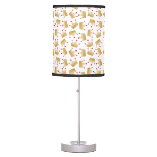 Soft Gold Gradient Princess Crown Pattern Table Lamp