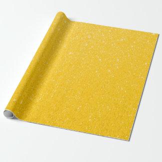 Soft Golden Yellow Glitter Print