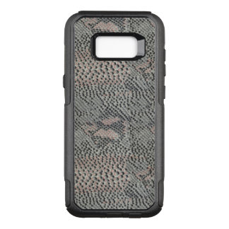Soft Gray and Pink Snake Skin Pattern OtterBox Commuter Samsung Galaxy S8+ Case