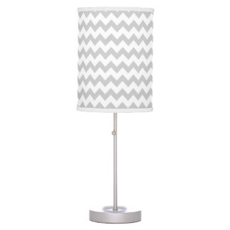 Soft Gray and White Chevron - Pick Your Color Table Lamp