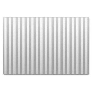 Soft Gray and White Stripes Tissue Paper