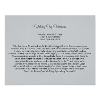 Soft Gray Directions Card