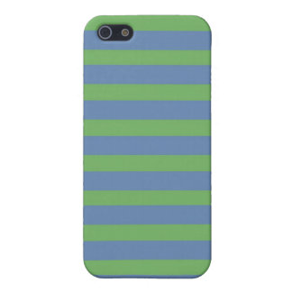Soft Green and Blue Purple Striped Pattern iPhone 5/5S Cover