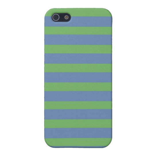 Soft Green and Blue Purple Striped Pattern iPhone 5 Cover
