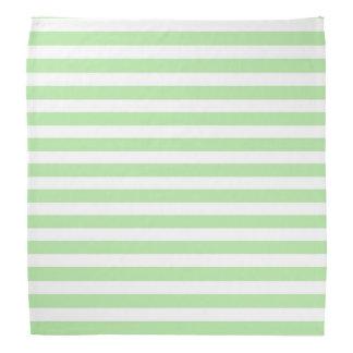 Soft Green and White Stripes Bandana