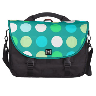 Soft green, blue, stylish, classic and trendy dots laptop bag