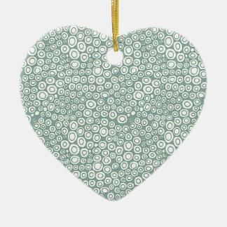 Soft Green Circles Pattern Ornaments