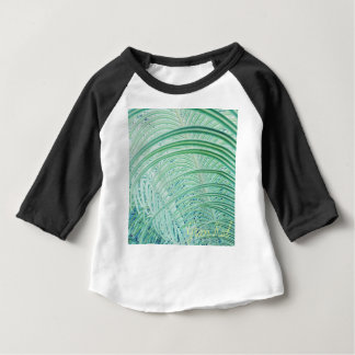 Soft Green Plant Palm Leaf Baby T-Shirt