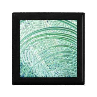 Soft Green Plant Palm Leaf Gift Box