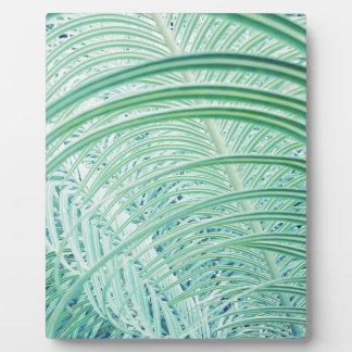 Soft Green Plant Palm Leaf Plaque