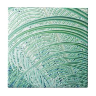 Soft Green Plant Palm Leaf Tile